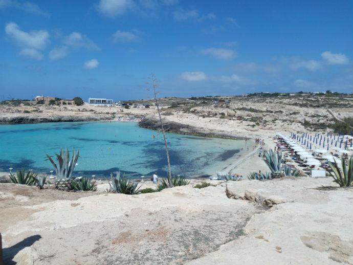 Lampedusa, Spiaggia di Cala Croce