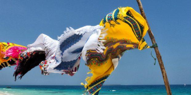 Tessuti al vento - Spiaggia di Zanzibar
