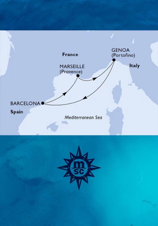 Crociera Mediterraneo MSC da Genova