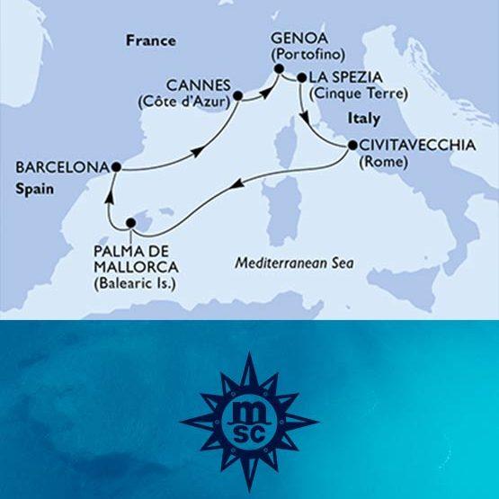 Crociera Mediterraneo MSC da Civitavecchia