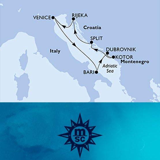 Crociera Mediterraneo MSC da Venezia