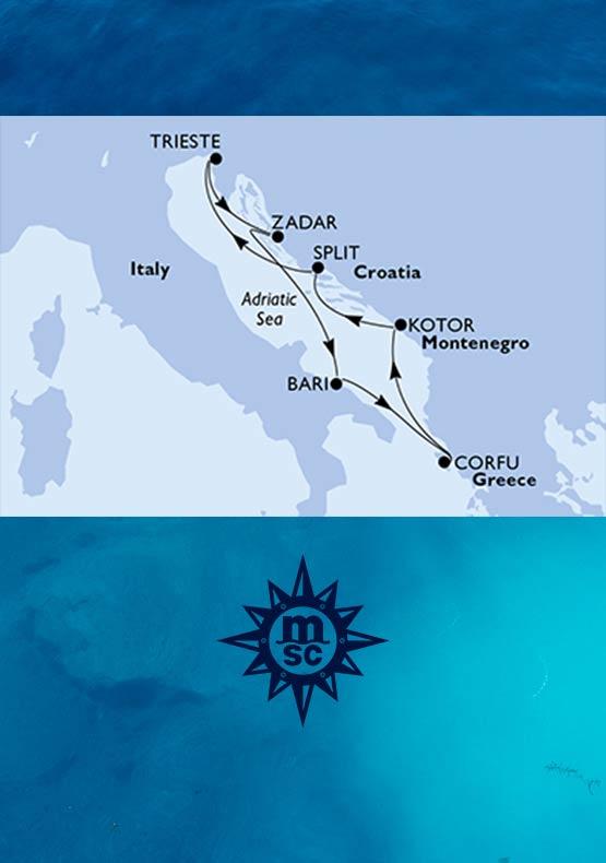 Crociera Mediterraneo MSC da Trieste