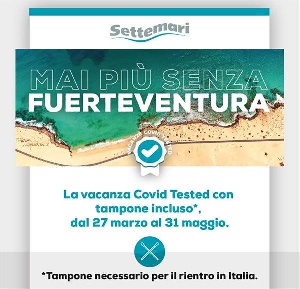 Vacanza COVID TESTED a FUERTEVENTURA prorogata fino al 31 maggio