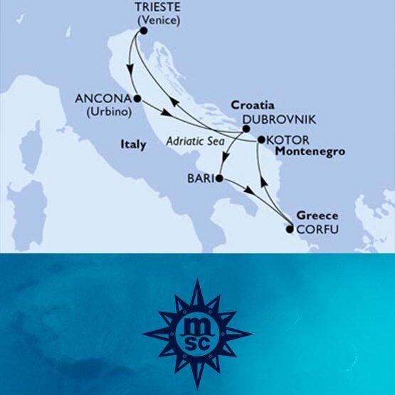 Crociera nel Mediterraneo (Grecia e Montenegro) partenza da Trieste