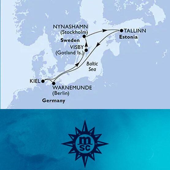Crociera nel Nord Europa (volo incluso) partenza da Kiel