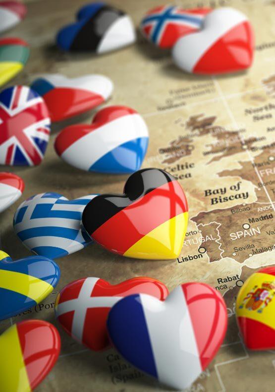 Vacanze in Europa - Bandiere